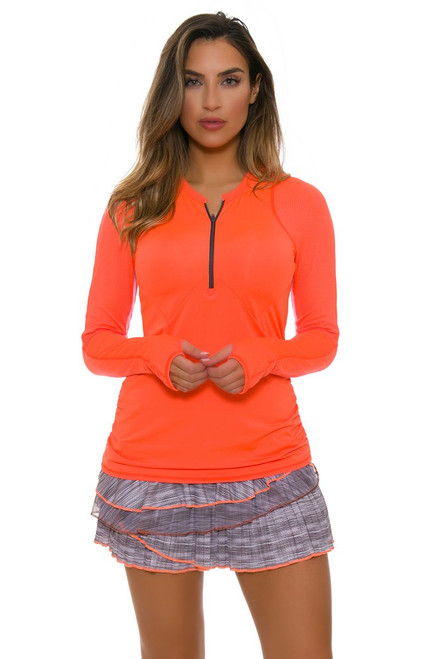 Lucky In Love Women's Spaced Out Zion Rally Pleat Tier Tennis Skirt