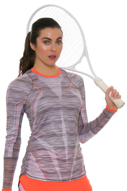 Lucky In Love Women's Spaced Out Intense Long Sleeve Tennis Top
