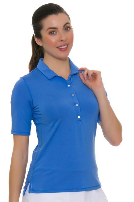 Lucky In Love Women's Core Le Snap Half Sleeve Bluemarine Golf Polo