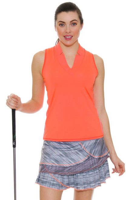 Lucky In Love Women's Spaced Out Zion Pleated Tier Golf Skort