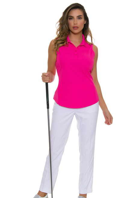Greg Norman Women's Essentials Easy Play Stretch White Golf Pants