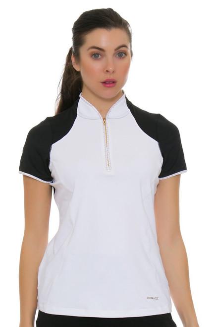 Annika Women's Prize Polish Mock Golf Short Sleeve Shirt