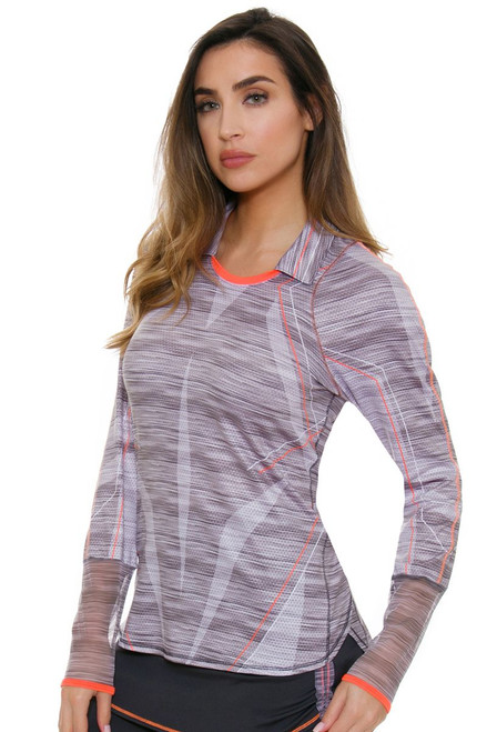 Lucky In Love Women's Spaced Out Intense Prep Golf Long Sleeve