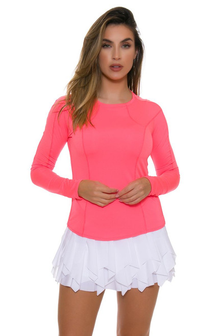Lucky In Love Women's Core Laser Sashay White Tennis Skirt