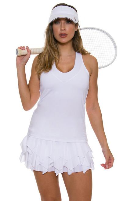 Lucky In Love Women's Core Laser Sashay White Tennis Skirt LIL-CB227-110 Image 1