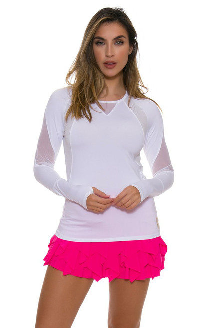 Lucky In Love Women's Core Laser Sashay Pink Tennis Skirt