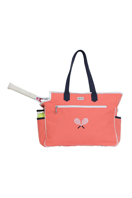 Ame & Lulu Women's Kensington Crossed Racquet Tennis Court Bag AL-Kensington Crossed Racquet Court Bag