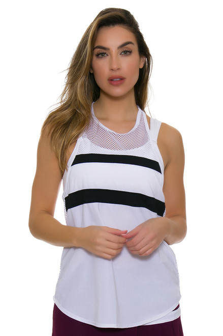 Tonic Active Women's Imperial White Muto Workout Tank TO-2225-118-White Image 1