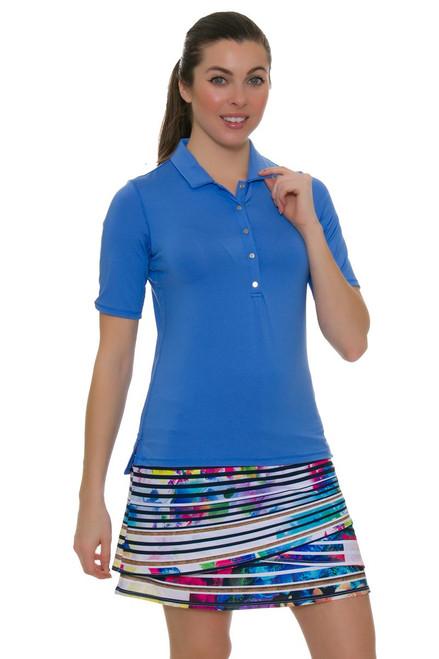 """Lucky In Love Women's Novelty Spin Pull On 17"""" Golf Skort"""