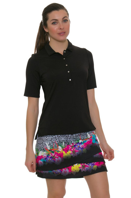 """Lucky In Love Women's Novelty Party Time Pull On 17"""" Golf Skort"""