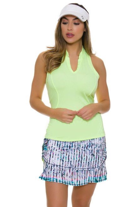 Lucky In Love Women's Haviana Paradise Ruched Pull On Golf Skort