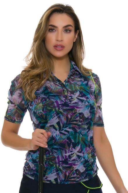 Lucky In Love Women's Haviana Mesh Polo With Tank Golf Shirt