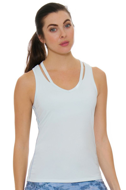 Lucky In Love Women's American Love Story Acid Cut Out Shore Tennis Tank