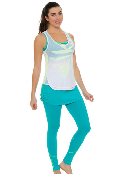 Lucky In Love Women's Haviana Tennis Ruched Skirt Legging