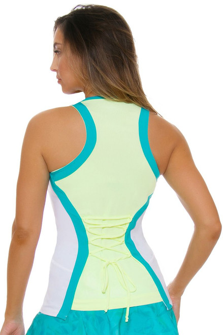 Lucky In Love Women's Haviana Laced Racerback Tennis Tank