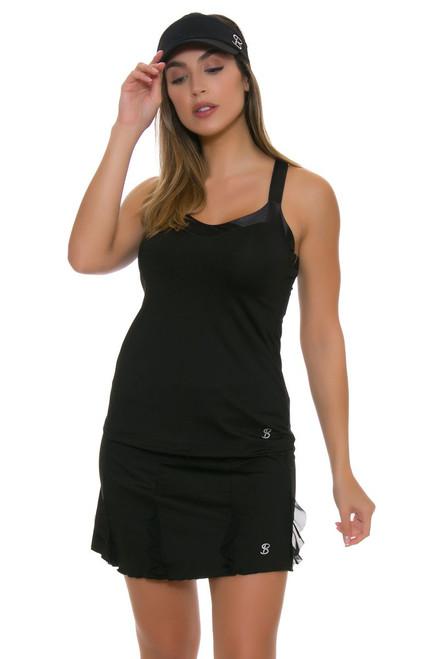 """Sofibella Women's Venice Cascade 15"""" Tennis Skirt"""