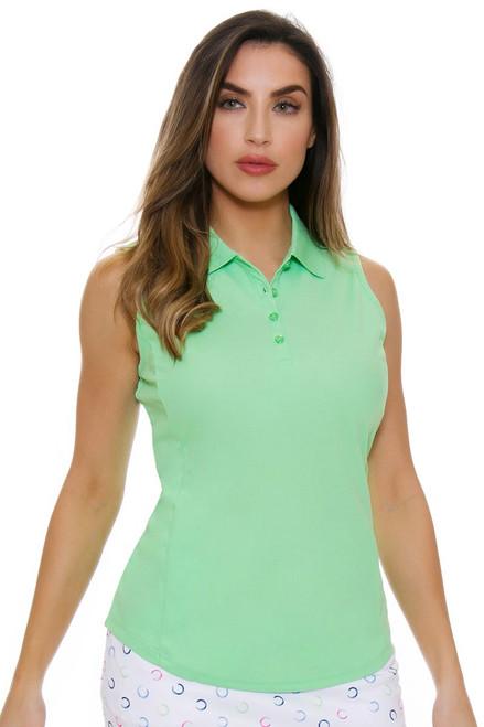 Greg Norman Women's Essentials Cilantro Protek Micro Pique Golf Sleeveless Shirt