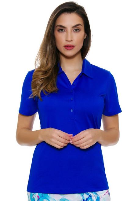 EP Pro NY Women's Al Fresco Textured Blocking Golf Short Sleeve Polo