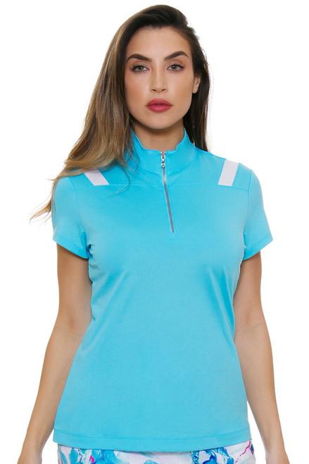 EP Pro NY Women's Al Fresco Contrast Blocking Golf Cap Sleeve Polo