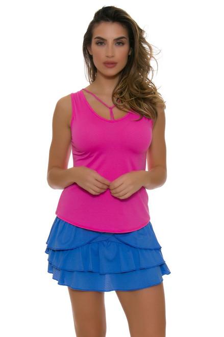 Lucky In Love Women's Floral Fantasy Long Rush Tennis Skirt