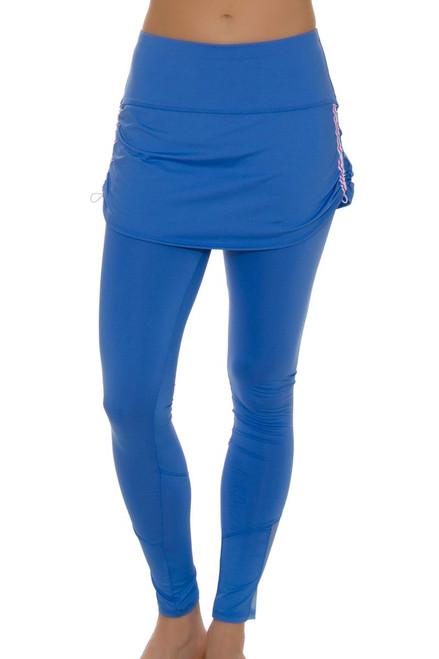 12bb606e203f10 ... Lucky In Love Women's Floral Fantasy Stripe Tennis Skirt Legging ...
