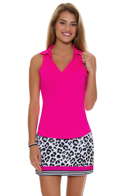 Allie Burke Animal Print Stripe Pull On Golf Skort