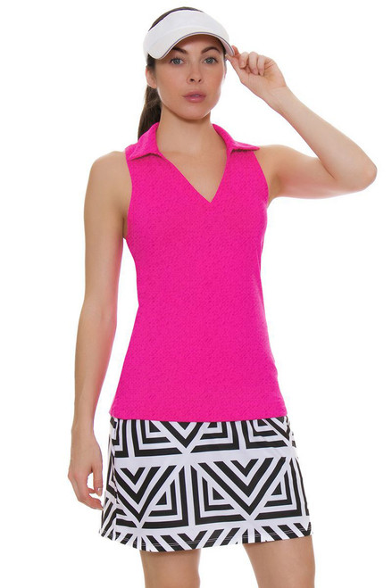 Allie Burke Geometric Print Pull On Golf Skort