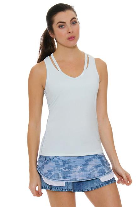 Lucky In Love Women's American Love Story Camo Denim Pocket Tennis Skirt