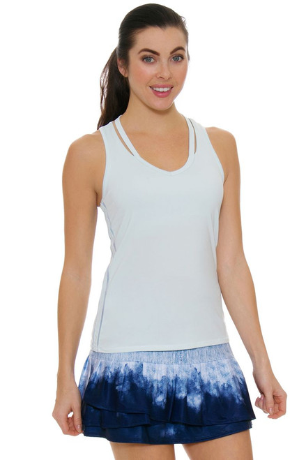 Lucky In Love Women's American Love Story Long Dip Dye Denim Tennis Skirt