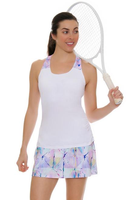 Fila Women's Elite Back Pleats Electric Print Tennis Skirt