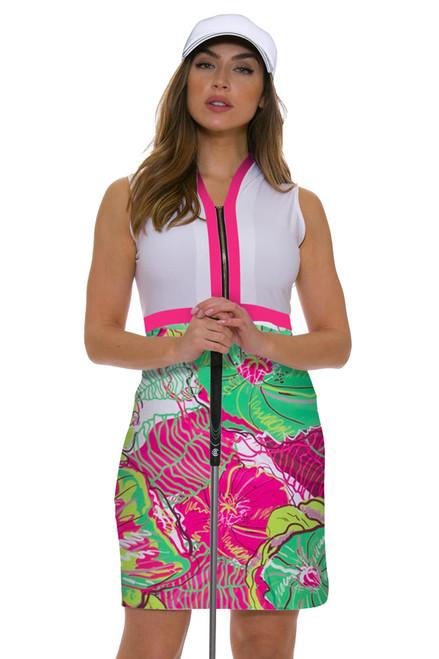 Allie Burke Preppy Floral Golf Dress