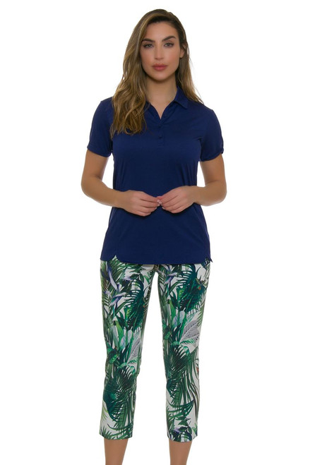 Swing Control Women's Paradise Print Golf Crop Pants SWC-B3007SW Image 1
