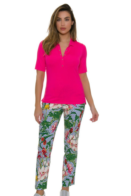 Swing Control Women's Paradise Garden Master Golf Ankle Pants SWC-M4019SW Image 1