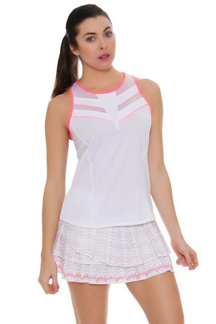 Lucky In Love Women's High Frequency Pulse Pleat Tier Tennis Skirt