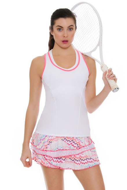 Lucky In Love Women's High Frequency Ecstatic Rally Pleat Tier Tennis Skirt