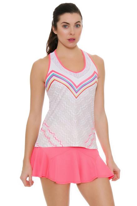 Lucky In Love Women's High Frequency Ricochet Flounce Tennis Skirt