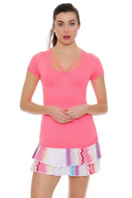 Lucky In Love Women's High Frequency Long Tennis Skirt