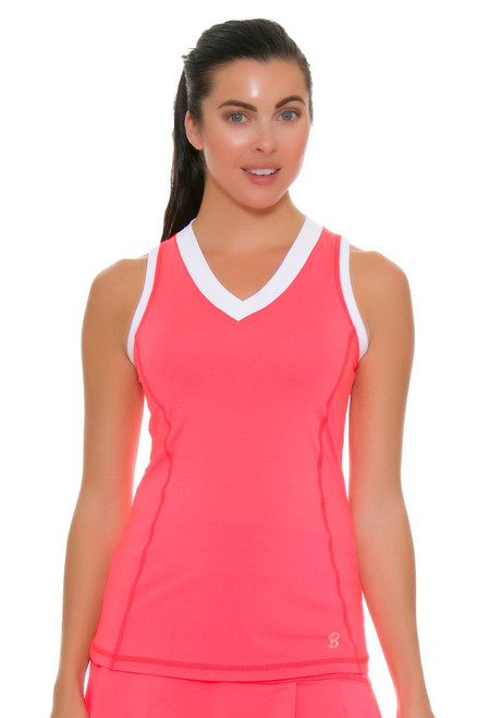 Sofibella Women's Montreal Poppy Point Tennis Tank