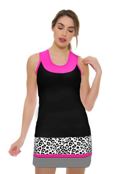Allie Burke Women's Animal Print Stripe Tennis Skirt