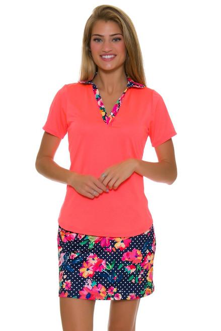 Allie Burke Polka Floral Print Pull On Golf Skort AB-BSKG01-POF Image 1