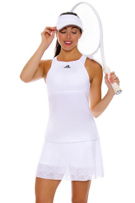 Adidas Women's London Line White Flounce Tennis Skirt
