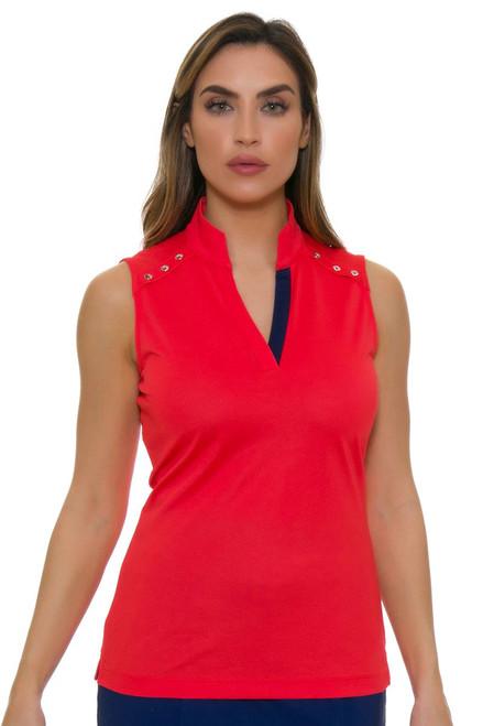EP Pro NY Women's Graphic Jam Crossover Placket Golf Sleeveless Shirt