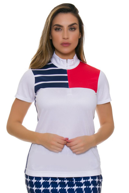 EP Pro NY Women's Graphic Jam Placed Print Golf Short Sleeve Polo