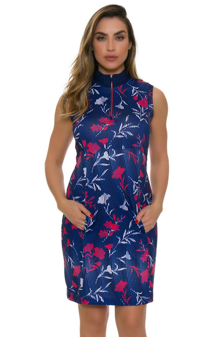 EP Pro NY Women's Graphic Jam Swirling Floral Print Golf Dress