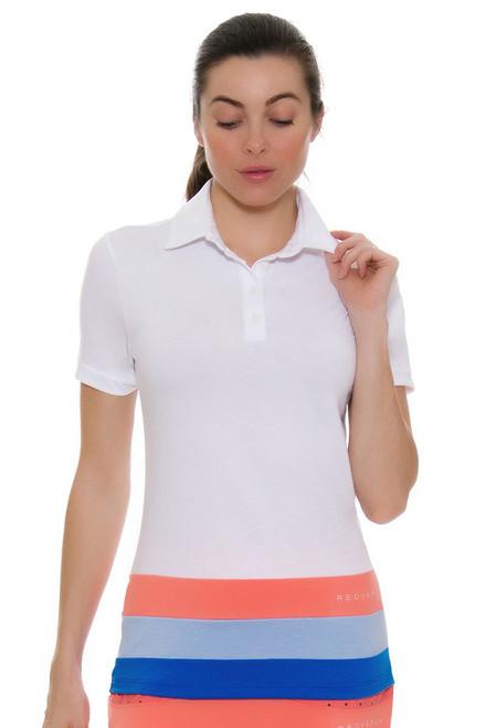 Redvanly Women's Echo Portland White Golf Polo Shirt