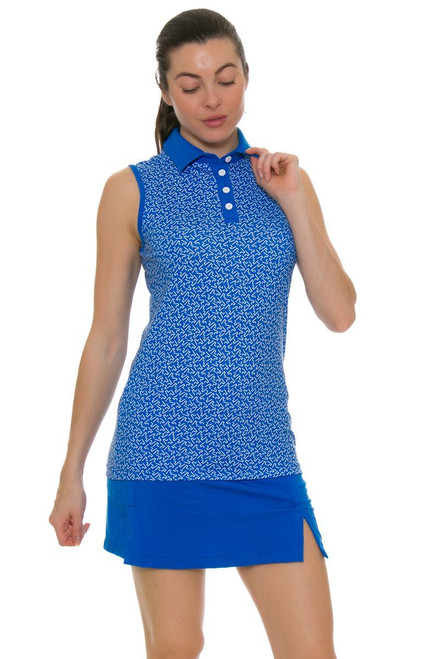 Redvanly Women's Echo Clinton Blue Golf Skirt