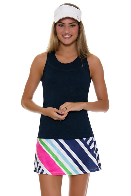 Allie Burke Women's Colored Cross Stripe Tennis Skirt