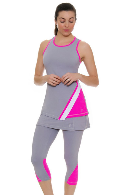 Sofibella Women's Rio Racquet Abaza Tennis Skirt Capri