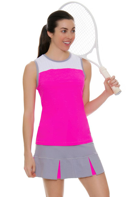 "Sofibella Women's Rio 13"" Set Pleated Tennis Skirt"