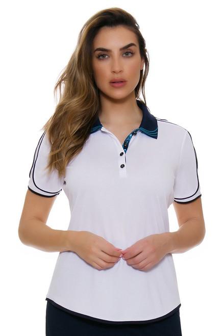 Greg Norman Women's Belize Skyler Golf Polo Shirt